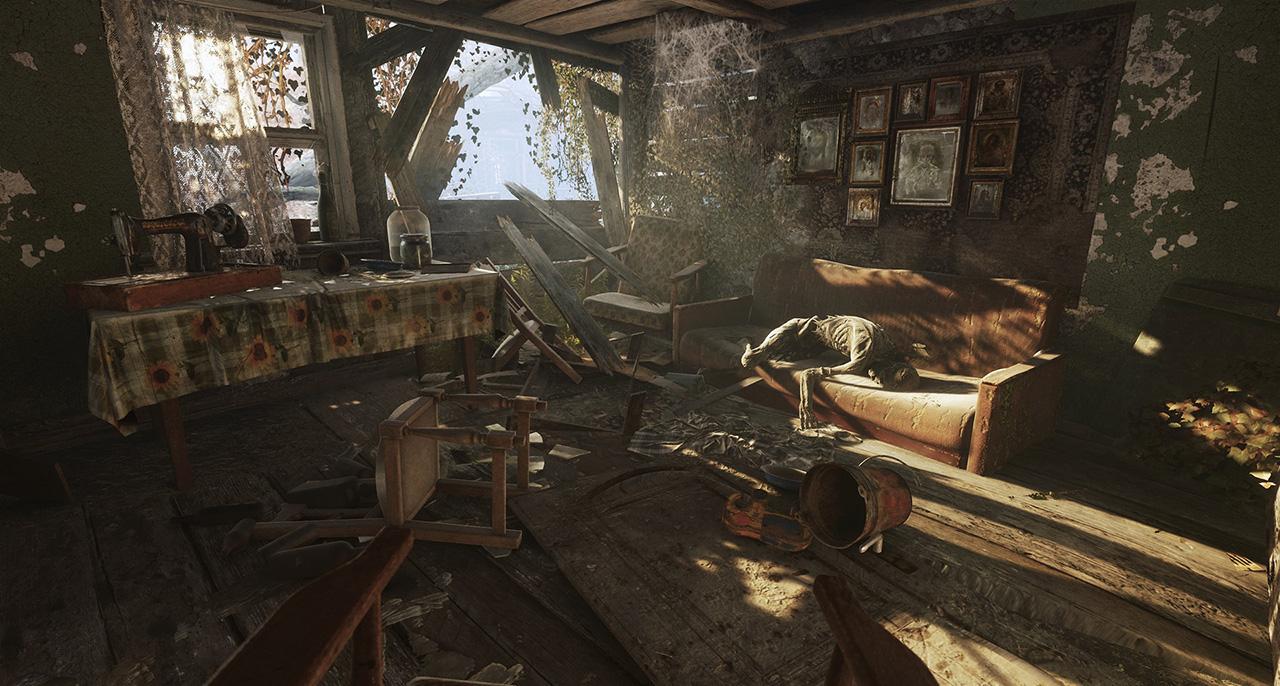 Snímka z hry Metro Exodus, ktorá používa technológiu ray tracing.